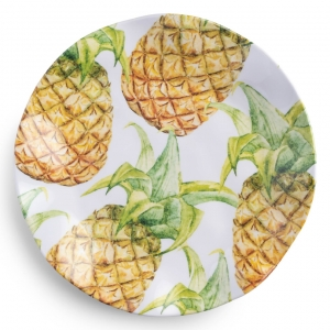 Aloha Melamine Dinner Plate Set of 4