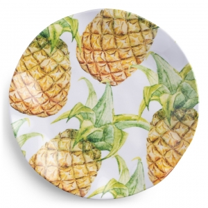 Q Squared Aloha Melamine Dinner Plate Set Of 4 Multi