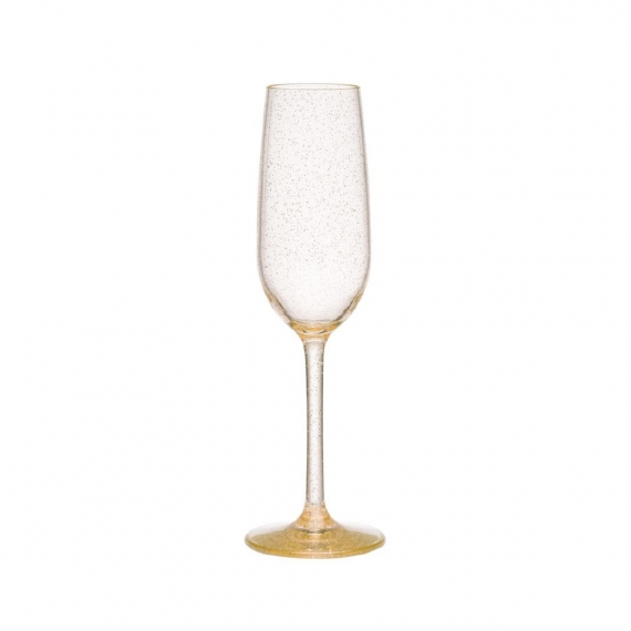 Hudson Tritan Acrylic Champagne Flute in Glitter Set of 4