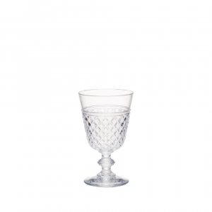 Q Squared Hudson Tritan Acrylic Embossed Goblet Set Of 8 Clear