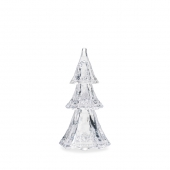 """Berry & Thread 9"""" Stackable Glass Tree Set of 3 in Clear"""
