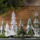 """Juliska Berry & Thread 9"""" Stackable Glass Tree Set Of 3 In Clear Clear"""