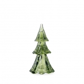 """Berry & Thread 9"""" Stackable Glass Tree Set of 3 in Evergreen"""
