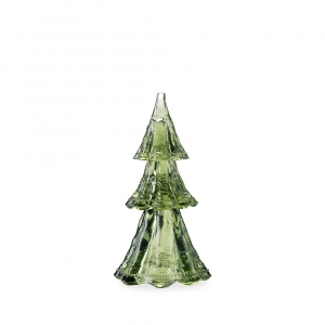 "Berry & Thread 9"" Stackable Glass Tree Set of 3 in Evergreen"