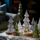 """Juliska Berry & Thread 10.5"""" 3pc Stacking Glass Tree In Clear With Snow Clear"""