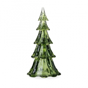 "Berry & Thread 16"" Stackable Glass Tree Set of 5 in Evergreen"