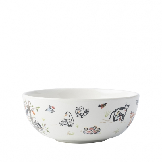 Twelve Days of Christmas Cereal / Ice Cream Bowl Set of 4