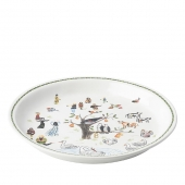 "Juliska Twelve Days Of Christmas 15"" Round Platter Multi"