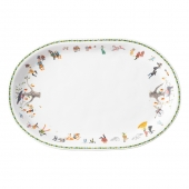 Juliska Twelve Days Of Christmas Oval Platter Multi