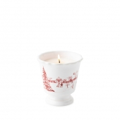 Juliska Country Estate Winter Frolic Ruby Scented Candle Set Of 2 Red
