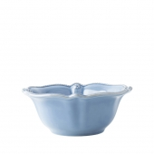 Juliska Berry & Thread Chambray Cereal / Ice Cream Bowl Set Of 4 Blue
