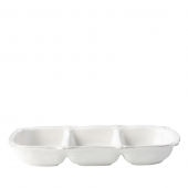 Juliska Berry & Thread Whitewash Triple Section Server White