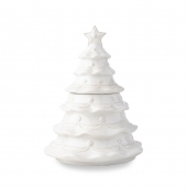 Juliska Berry & Thread Whitewash Christmas Tree Cookie Jar White
