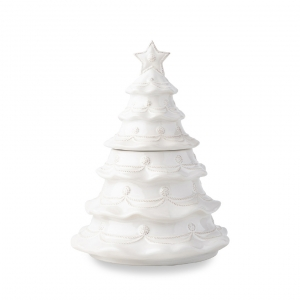 Berry & Thread Whitewash Christmas Tree Cookie Jar
