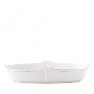 "Juliska Berry & Thread Whitewash 12"" Oblong Serving Dish White"
