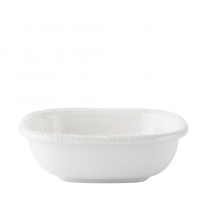 "Juliska Le Panier Whitewash 9"" Square Serving Bowl White"