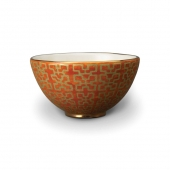 L'Objet Fortuny Ashanti Cereal Bowls Set of 4 Orange