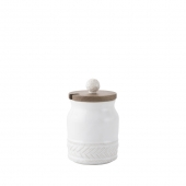 Juliska Le Panier Whitewash Sugar Pot Set Of 2 White