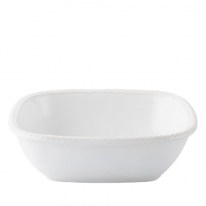 "Juliska Le Panier Whitewash 11"" Square Serving Bowl White"