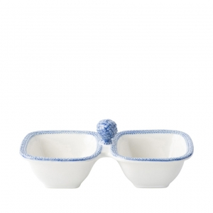 Le Panier White / Delft Two Section Server