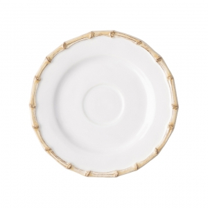 Classic Bamboo Natural Saucer Set of 4