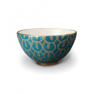 L'Objet Fortuny Ashanti Cereal Bowls Set of 4 Teal