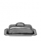 Pewter Stoneware Butter Dish
