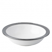 "Emerson White / Pewter 13"" Serving Bowl"