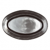 "Pewter Stoneware 15"" Oval Platter"