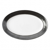 "Emerson White / Pewter 15"" Platter"