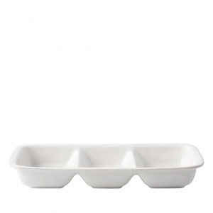"Juliska Puro Whitewash 15"" Divided Serving Dish White"