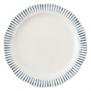 Sitio Stripe Indigo Dinner Plate Set of 4