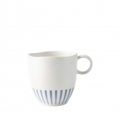 Sitio Stripe Indigo Mug Set of 4