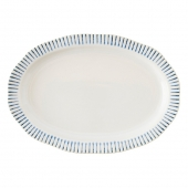 "Sitio Stripe Indigo 17"" Serving Platter"