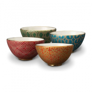 L'Objet Fortuny Assorted Cereal Bowls Set of 4 Multicolor