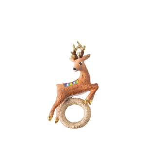 Reindeer Napkin Ring Set of 4