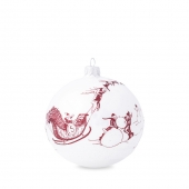 Juliska Country Estate Winter Frolic Ruby Glass Ornament - 2020 Limited Edition Red