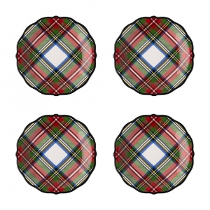 Stewart Tartan Cocktail Plates Set of 4