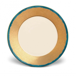 L'Objet Fortuny Dinner Plates Set of 4 Teal