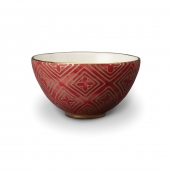 L'Objet Fortuny Jupon Cereal Bowls Set of 4 Red