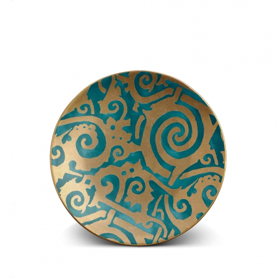 Fortuny Maori Dessert Plates Set of 4 - Teal
