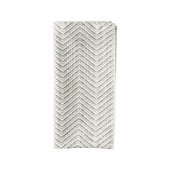 Kim Seybert Drift Napkin In White, Grey & Silver Set Of 4