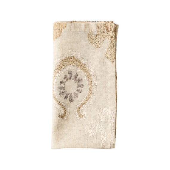 Marrakech Napkin in Natural, Ivory & Gold Set of 4