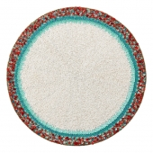 Amalfi Placemat in White, Turquoise & Coral Set of 4
