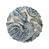 Kim Seybert Paisley Placemat In White, Navy & Gold Set Of 4 Multi