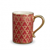 L'Objet Fortuny Murillo Mugs Set of 4 Red