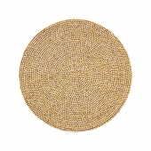 Wood Round Placemat in Natural Set of 4