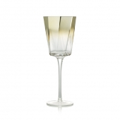Kim Seybert Helix Goblet In Gold Set Of 4 Gold