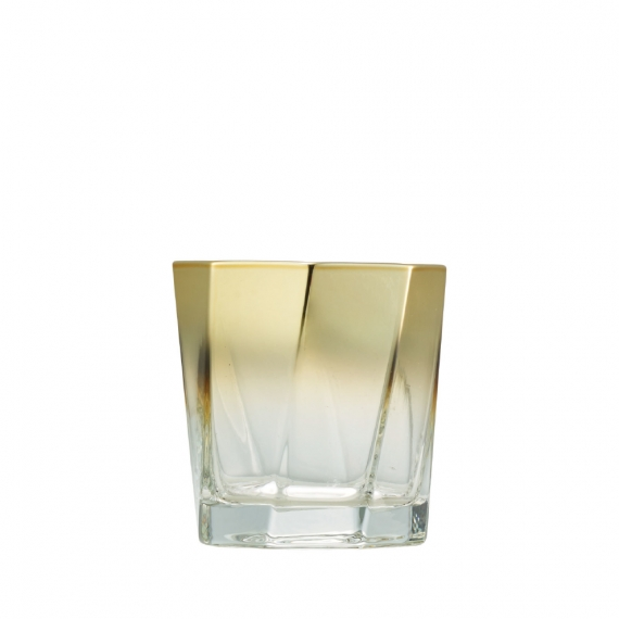 Helix Double Old Fashioned in Gold Set of 4