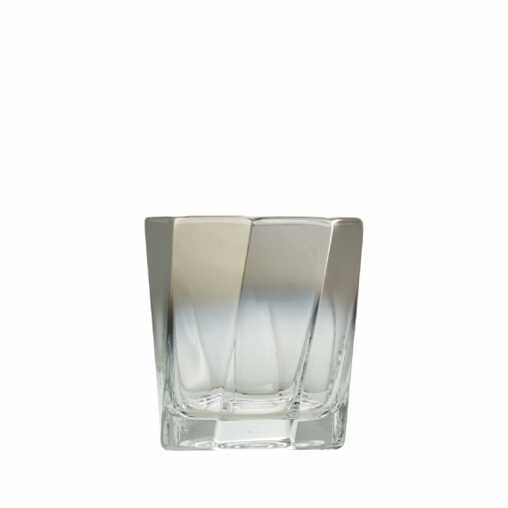 Helix Double Old Fashioned in Silver Set of 4